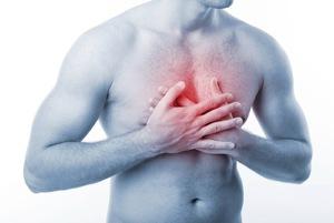 боли в груди посередине
