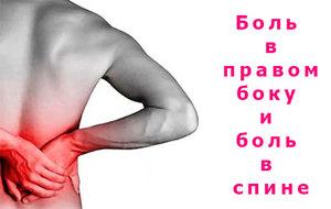 Причины возникновения боли в правой части спины и бока ...