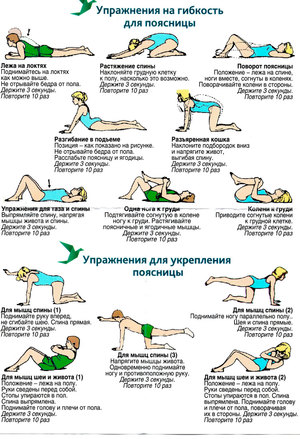 Упражнения для гибкости поясничного отдела позвоночника
